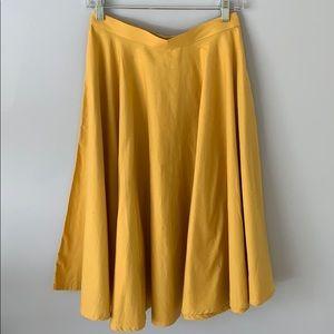 Vintage Yellow Midi Skirt by Unique Vintage